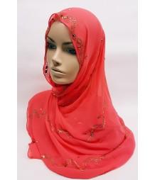 Evening Hijab - candy apple