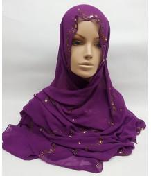Evening Hijab - purple