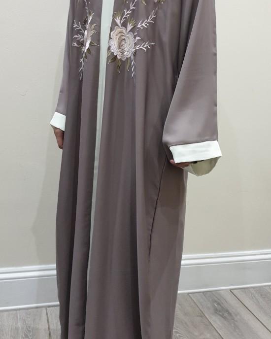 Afaf Floral Open Abaya Style UK