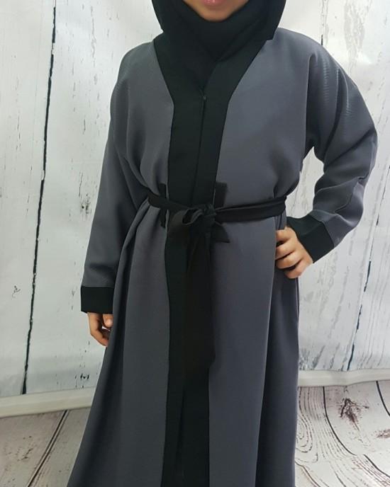 Kids Open Abaya Jacket Style KD001 - Childrens Abayas - KD001