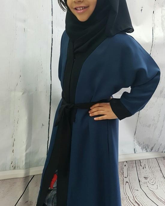Kids Open Abaya Jacket Style KD003 - Childrens Abayas - KD003