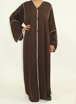 Amani's Dark Brown Long Sleeve Maxi Jacket Style UK