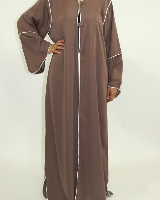 Amani's Light Brown Long Sleeve Maxi Jacket Style UK - Jackets - Jacket009