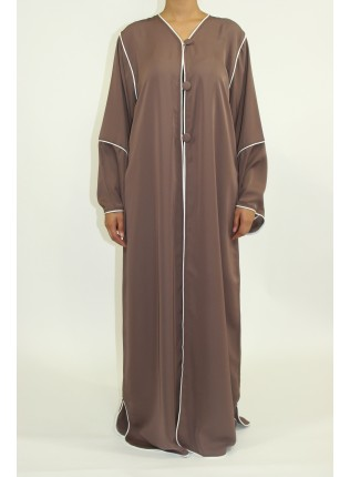 Amani's Light Brown Long Sleeve Maxi Jacket Style UK