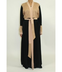 Aadab Open Front Abaya Style AUG005 UK