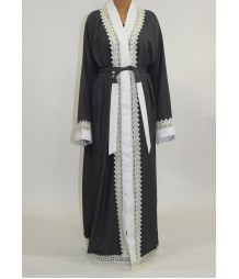 Aaima Open Abaya Style AUG010 UK
