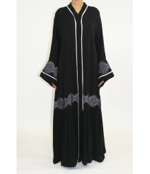Aafreeda Open Pleated Abaya Style AUG011 UK