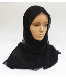 Black Metallic Iridescent Hijab