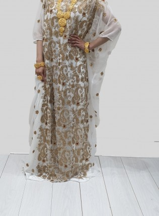 ABYAD EMBROIDERY BRIDAL DIRAC