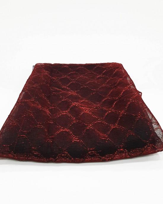 Burgendy Metallic Iridescent Hijab - Occasion Hijabs - HIJAB211