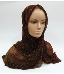 Chocolate Metallic Iridescent Hijab