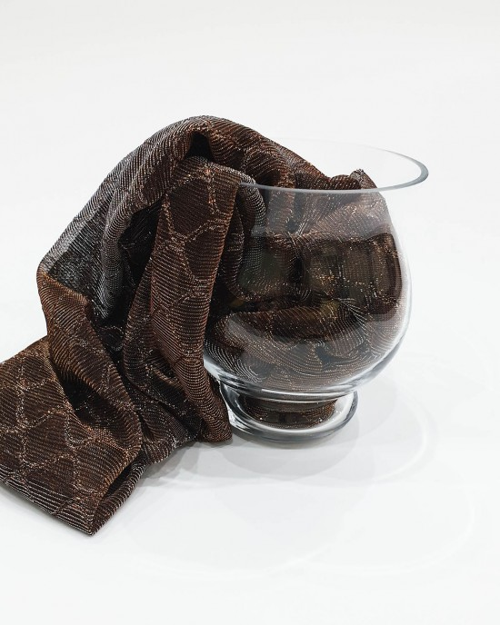Chocolate Metallic Iridescent Hijab - Occasion Hijabs - HIJAB210
