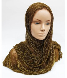 Copper Gold Metallic Iridescent Hijab