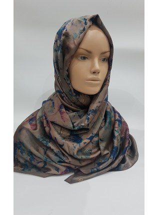 Shades of Blue Duchess Satin Scarf - Hijab Style