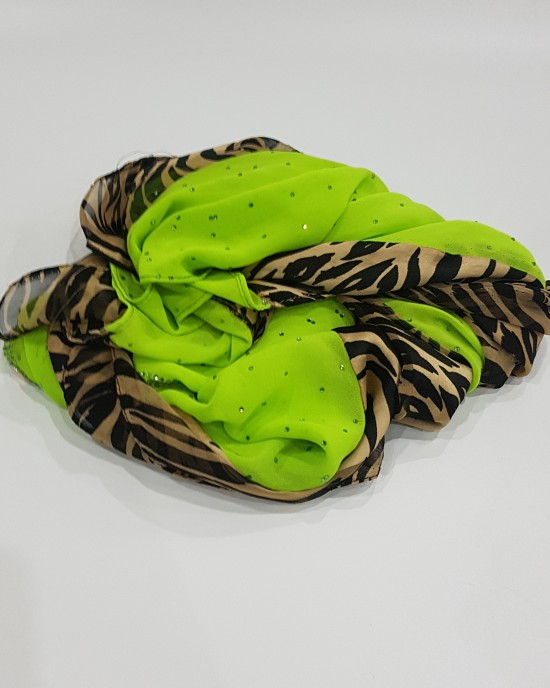Anan Bright Green Evening Scarf - Hijab Style - Occasion Hijabs - HIJ620