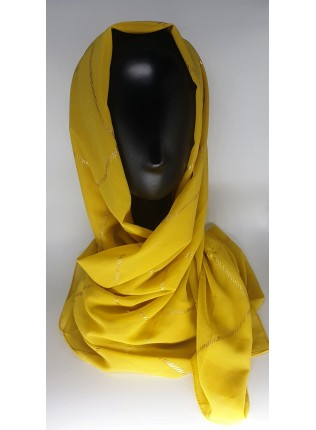 Almas Occasion Hijab / Scarf - Corn Yellow