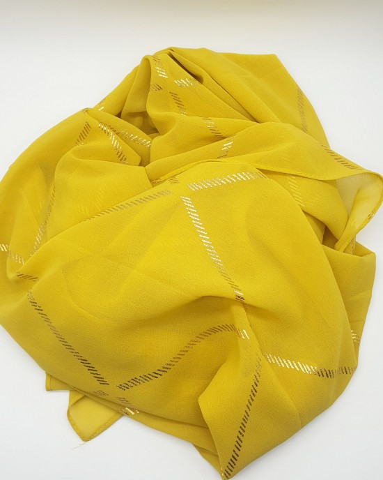 Almas Occasion Hijab / Scarf - Corn Yellow