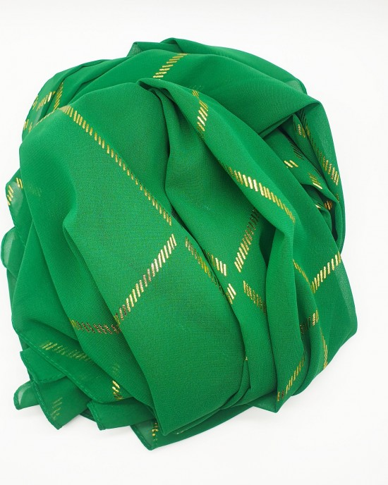 Almas Occasion Hijab / Scarf - Green