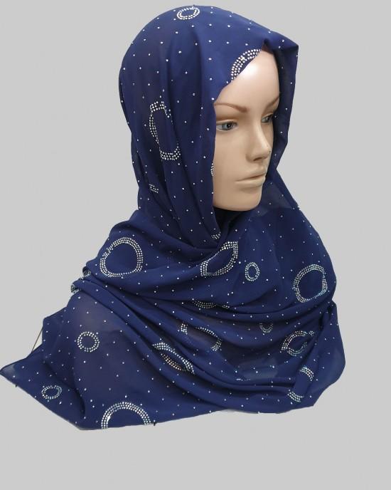 Amal Occasion Hijab - Oxford Blue - Scarf - Occasion Hijabs - HIJ627