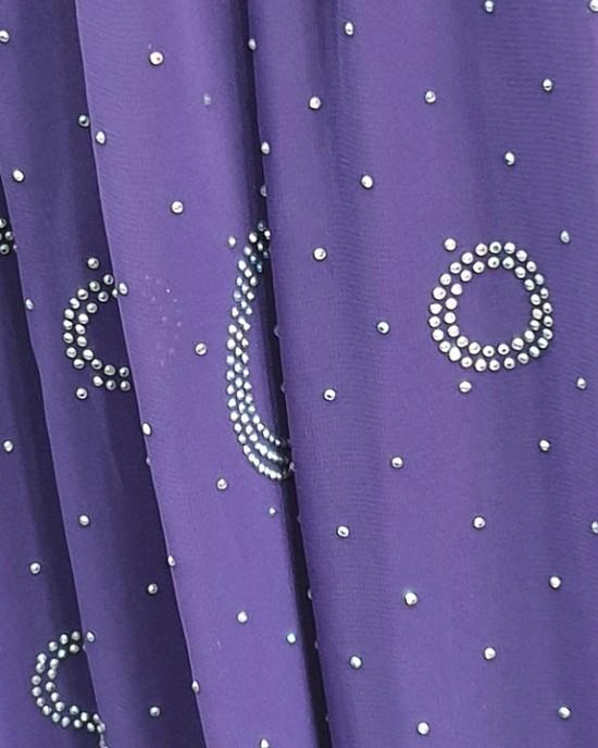 Amal Occasion Hijab - Violet - Scarf - Occasion Hijabs - HIJ629