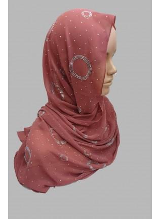 Amal Occasion Hijab - Blush - Scarf
