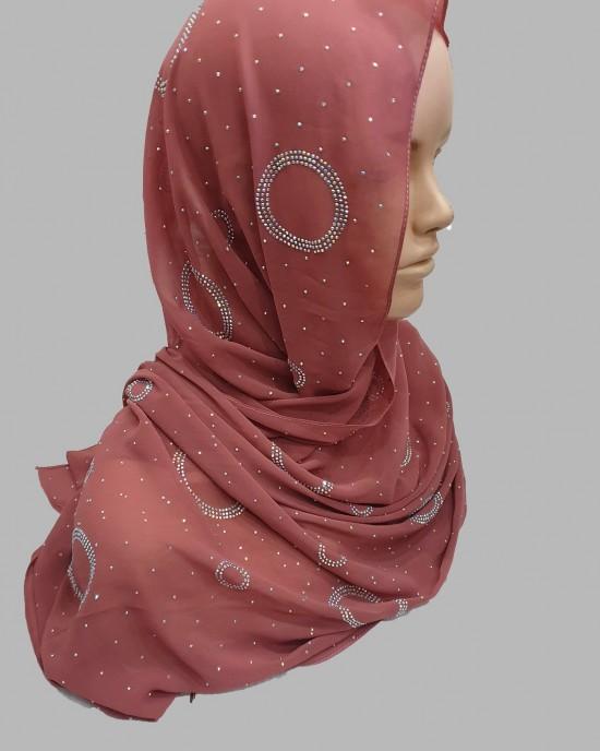Amal Occasion Hijab - Blush - Scarf - Occasion Hijabs - HIJ631