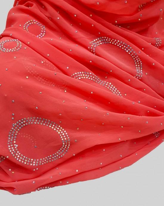 Amal Occasion Hijab - Coral - Scarf - Occasion Hijabs - HIJ630