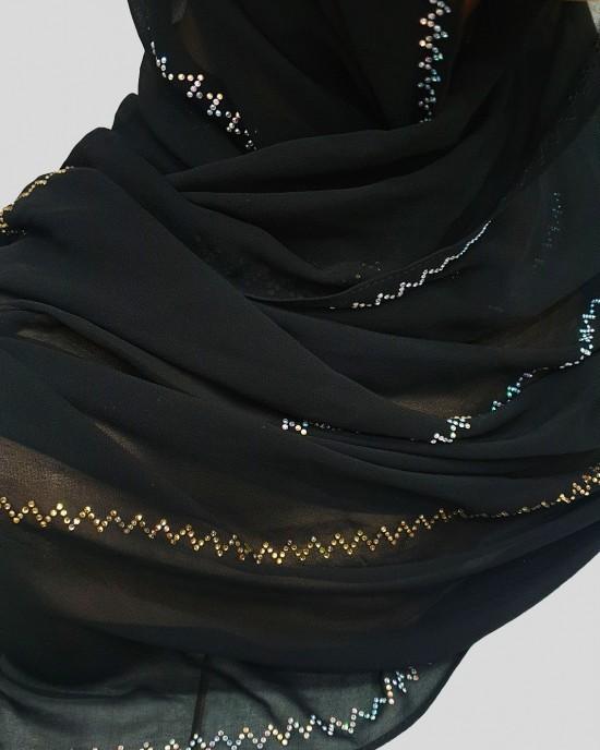Esmi Occasion Hijab - Black - Scarf - Occasion Hijabs - HIJ633