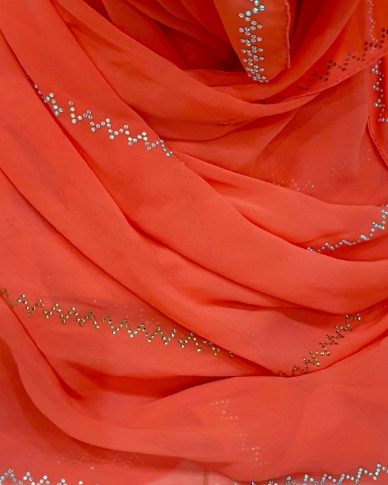 Esmi Occasion Hijab - Coral - Scarf - Occasion Hijabs - HIJ637