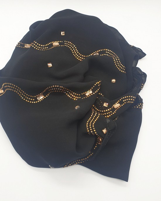 Nayla Occasion Hijab - Black - Scarf - Occasion Hijabs - HIJ645