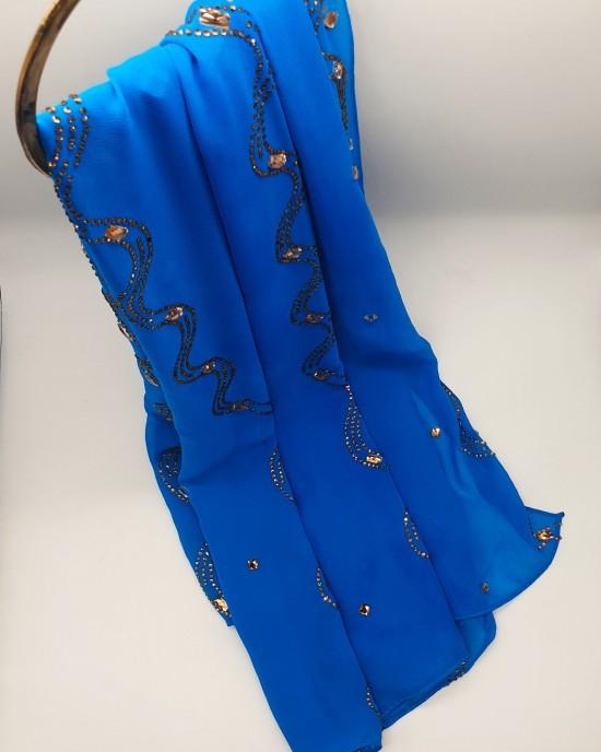 Nayla Occasion Hijab - Azure - Scarf - Occasion Hijabs - HIJ641