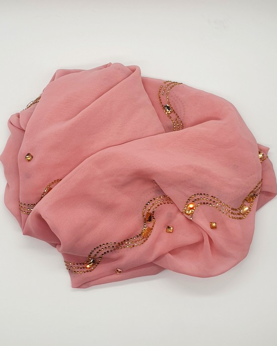 Nayla Occasion Hijab - Salmon Pink Scarf - Occasion Hijabs - HIJ640