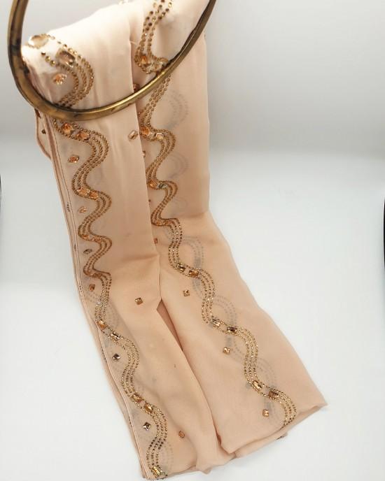 Nayla Occasion Hijab - Nude - Scarf - Occasion Hijabs - HIJ642