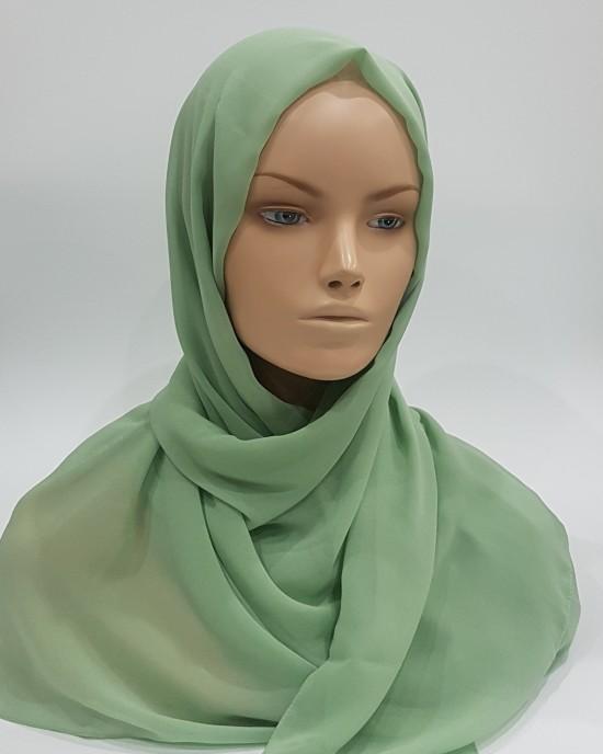 Georgette Hijab - Seafoam - Scarf - Everyday Hijabs - HIJ602
