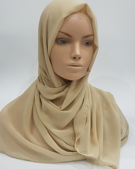 Elegant soft Georgette Hijab - Nude - Scarf - Everyday Hijabs - HIJ609
