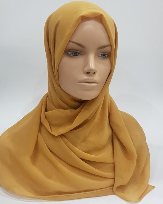 Elegant soft Georgette Hijab - Honey - Scarf - Everyday Hijabs - HIJ611