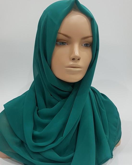 Elegant Soft Georgette Hijab - Indian Ocean - Scarf - Everyday Hijabs - HIJ600
