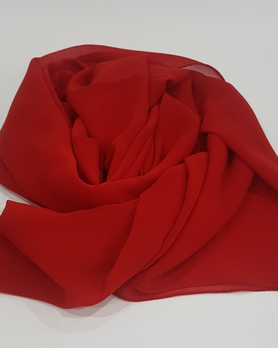 Elegant Soft Georgette Hijab - Candy Red - Scarf - Everyday Hijabs - hij601