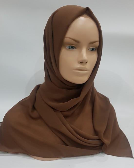 Georgette Hijab - Mocha - Scarf