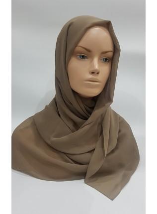 Georgette Hijab - Olive Green - Scarf