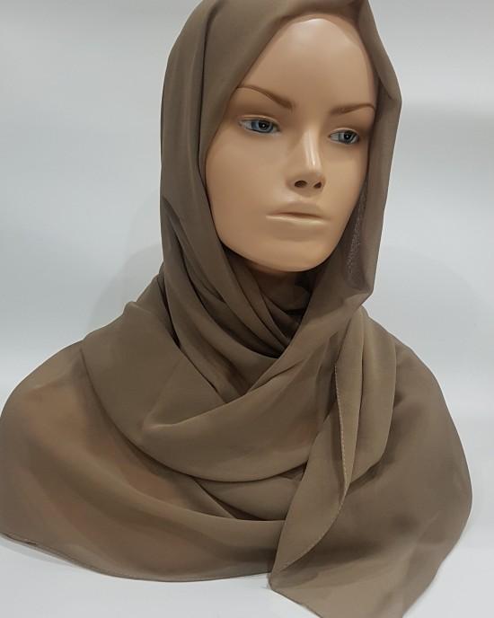 Elegant soft Georgette Hijab - Olive Green - Scarf - Everyday Hijabs - HIJ604