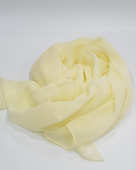 Elegant soft Georgette Hijab - Cream - Scarf - Everyday Hijabs - HIJ612