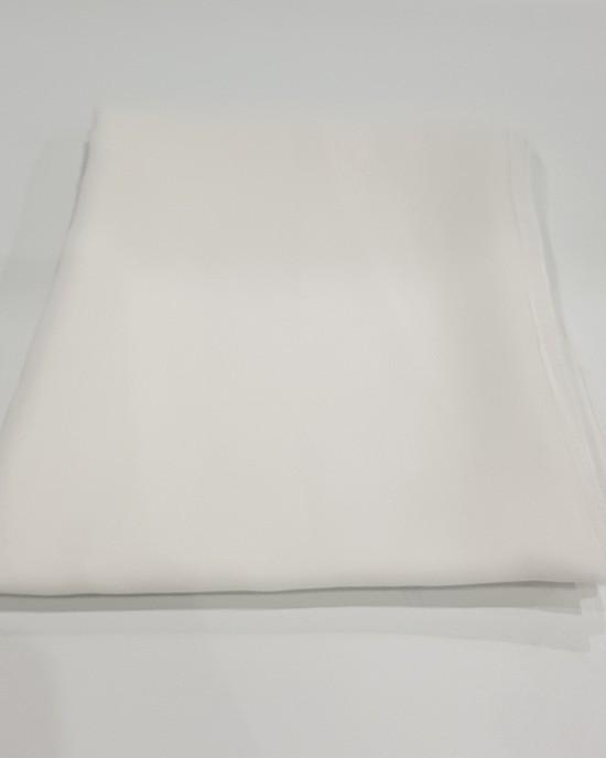Elegant soft Georgette Hijab - White - Scarf - Everyday Hijabs - HIJ606
