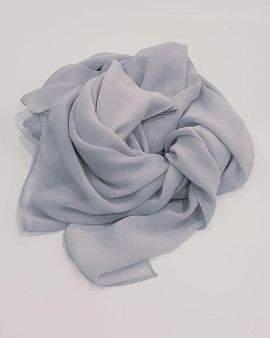 Elegant soft Georgette Hijab - Paris Gray - Scarf - Everyday Hijabs - HIJ002