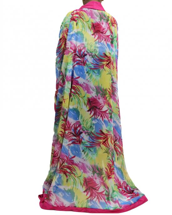 Printed palm chiffon kids maxi dress kaftan - Childrens Dresses - TIA009