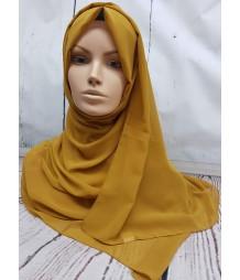 Georgette Hijab - Mustard