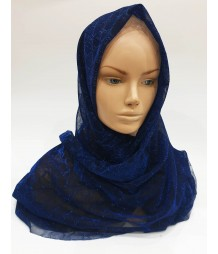 Navy Metallic Iridescent Hijab