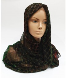 Two-tone Green Metallic Iridescent Hijab