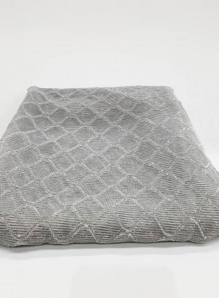 Silver Metallic Iridescent Hijab - Scarf