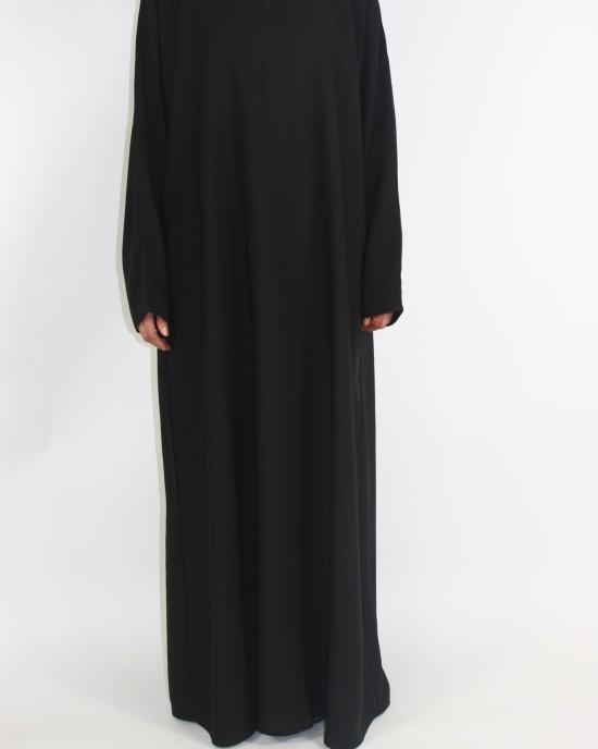 Amani's Plain Black Neda Everyday Abaya Style UK - Abayas - Abaya118
